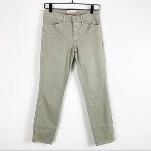 Tory Burch Light Gray Green Skinny Jeans